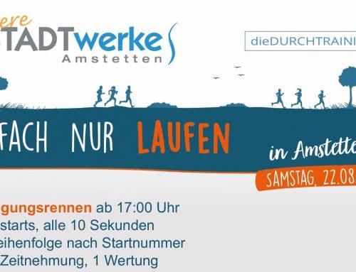 1. Stadtwerke Amstetten/die Durchtrainierer – Verfolgungsrennen am 22.08.2020